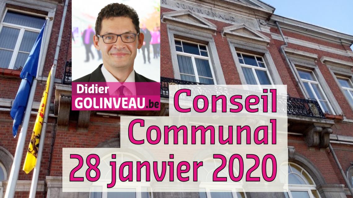 Conseil Communal du 28 janvier 2020