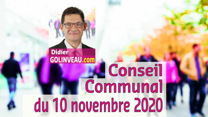 Conseil Communal du 10 novembre 2020