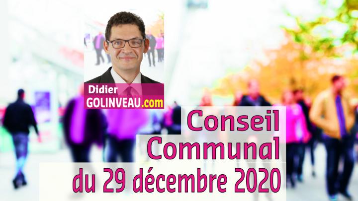 Conseil Communal du 29 décembre 2020