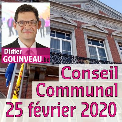 Conseil Communal du 25 février 2020