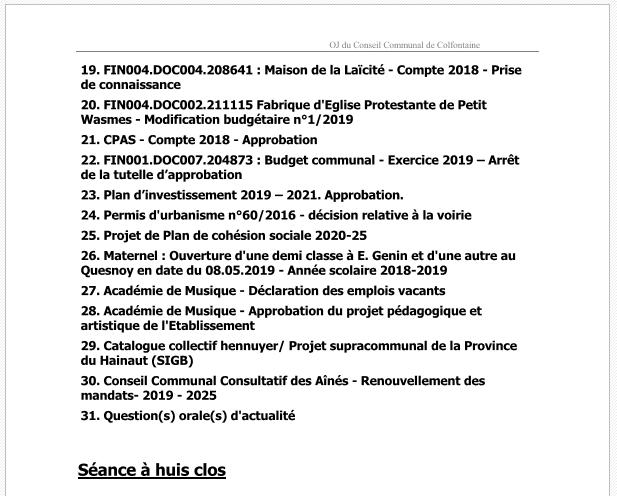 Conseil Communal du 28 mai 2019 page 2